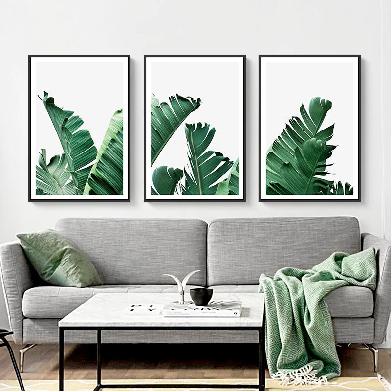 Tropical Palm Leaves Catching The Breeze Botanical Wall Art Nordic Style Fine Art Canvas Prints For Living Room Dining Room Modern Home Decor