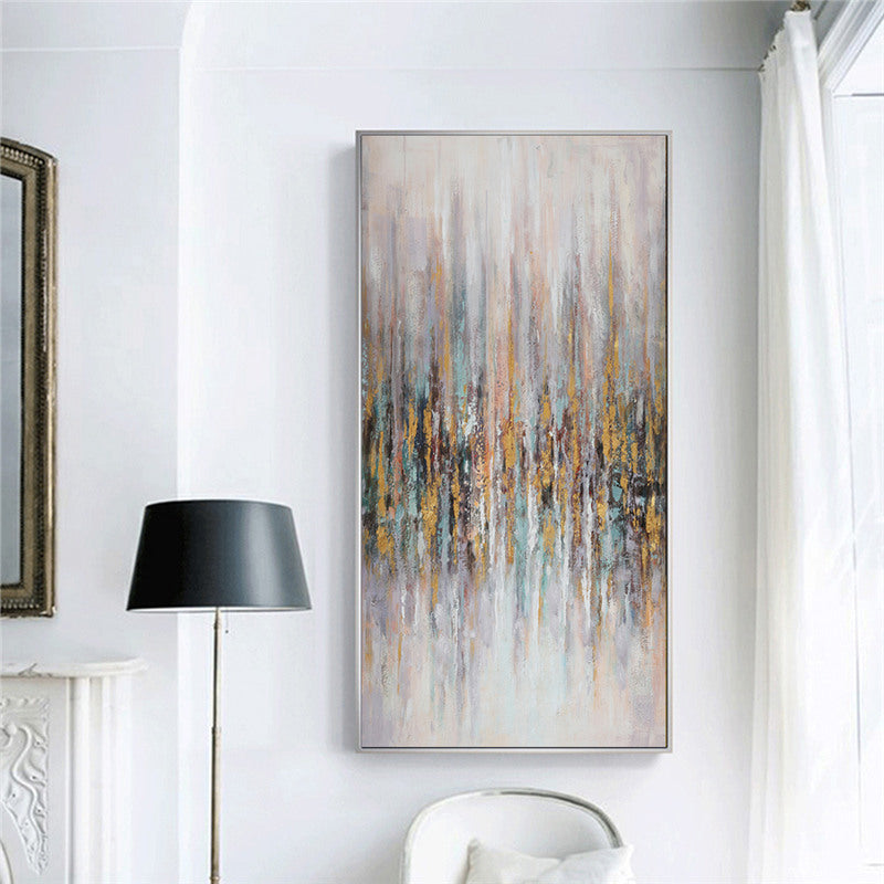 Urban Abstract Wall Art Nordic Style Fine Art Canvas Prints Subtle Hues Subdued Colors Vertical Portrait Format Pictures For Modern Office Hotel Loft Interiors