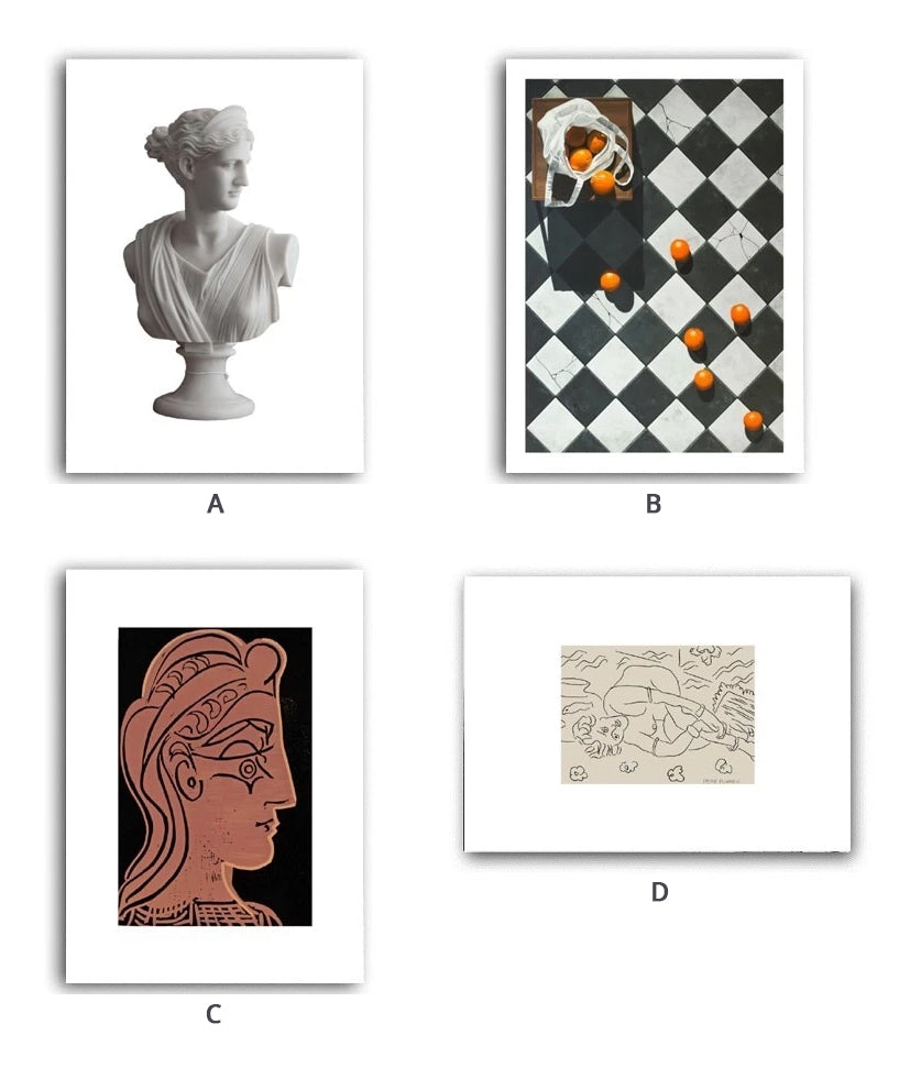 Vintage European Abstract Roman Renaissance Gallery Wall Art Sculpture & Sketch Fine Art Canvas Giclee Prints Modern Home Interior Decor