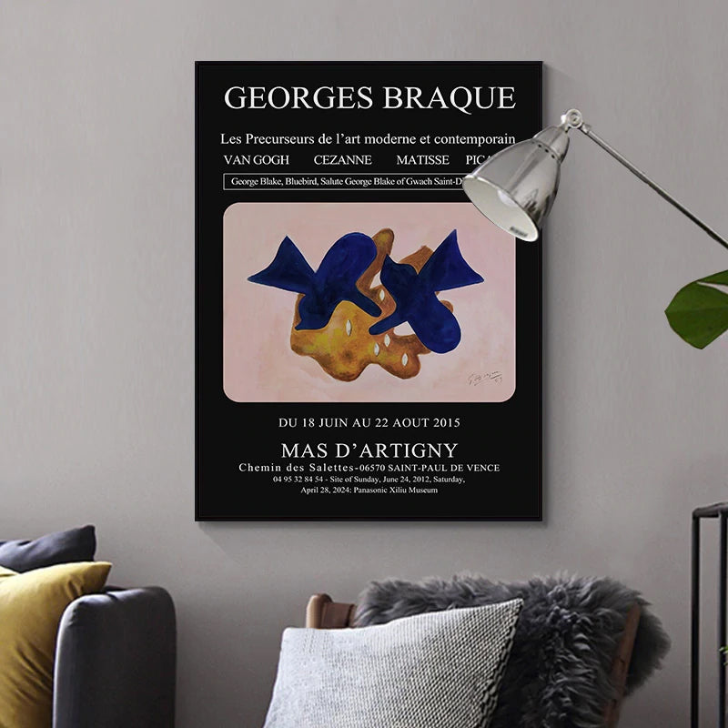 Vintage Retro Art Gallery Posters Gallery Wall Art Van Gogh Cezanne Matisse Picasso Fine Art Canvas Prints Stylish Living Room Wall Decor
