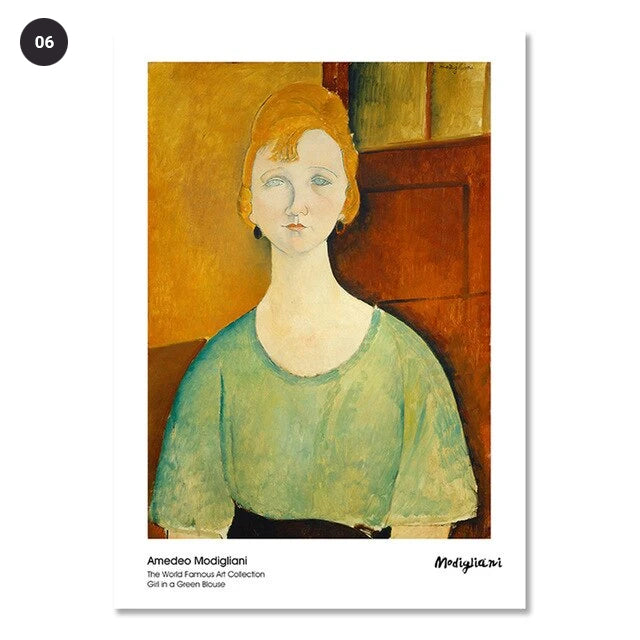 Vintage Vogue Amedeo Modigliani Abstract Portraits Of Women Fine Art Canvas Prints Classic Art Posters For Dining Room Living Room Home Decor