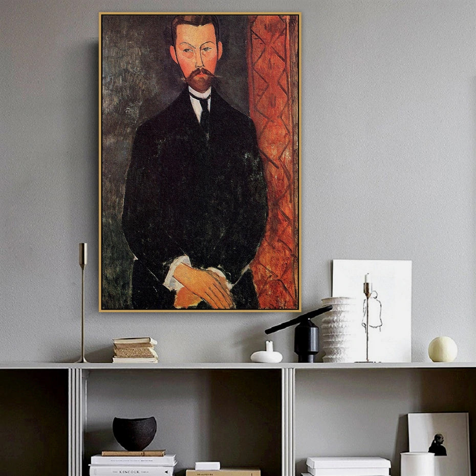 Vintage Vogue Amedeo Modigliani Portrait Of Paul Alexander Fine Art Canvas Prints Classic Art Posters For Dining Room Living Room Home Decor