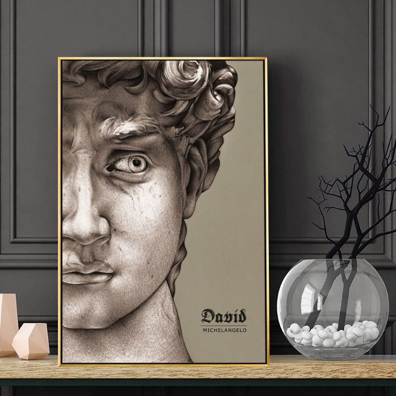 Vintage Vogue Collection Abstract Renaissance Michelangelo David Poster Fine Art Canvas Prints For Living Room Dining Room Modern Home Decor