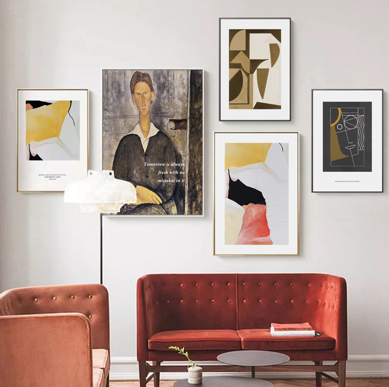 Vintage Vogue Collection Amedeo Modigliani Portrait Of A Young Man Fine Art Canvas Print Famous Art Posters For Modern Home Office Decoration