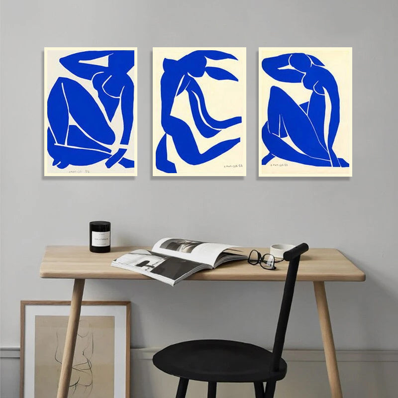 Vintage Vogue Matisse Blue Nudes Fine Art Canvas Giclee Prints Modern Art Posters For Bedroom Living Room Office Salon Interior Decor