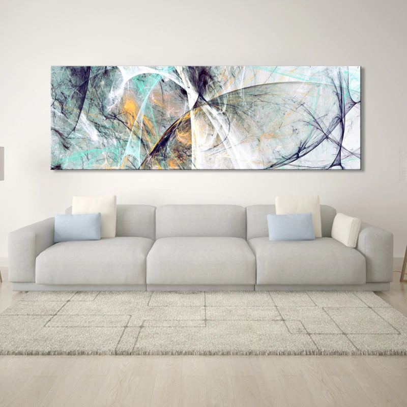 Wide Format Abstract Wall Art Fine Art Canvas Prints Colorful Contemporary Paintings Pictures For Office Home Living Room Modern Wall Decor