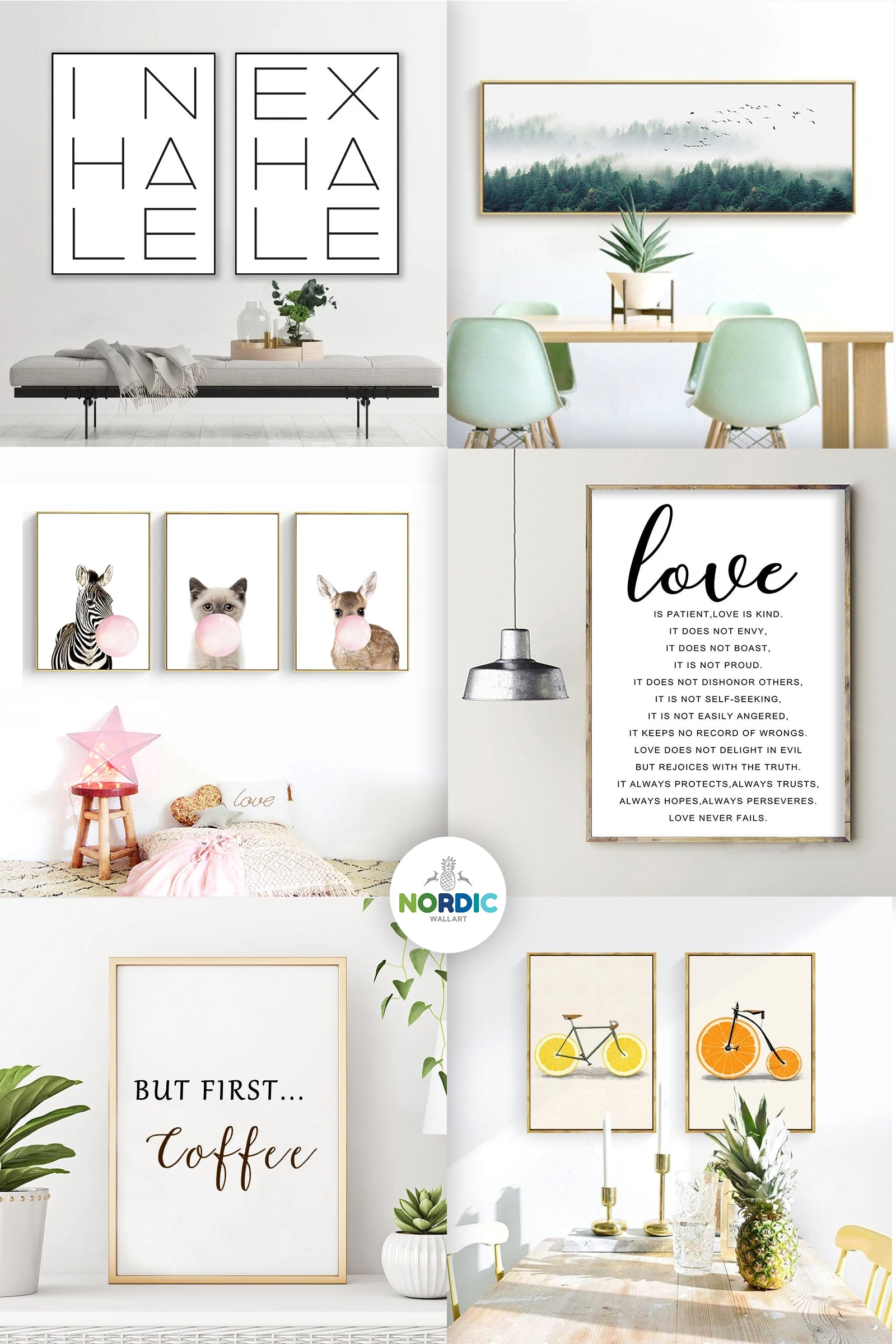 Choose Nordic Wall Art to fill your environment with happiness, inspiration, calm and positivity