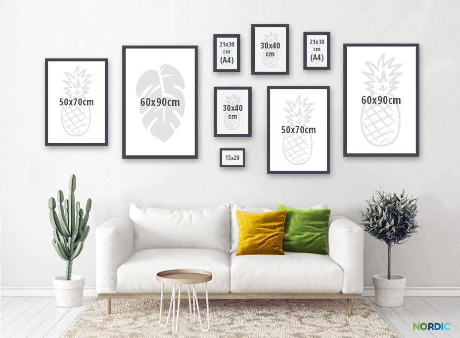 Nordic Wall Art Canvas Prints Size Layout Examples