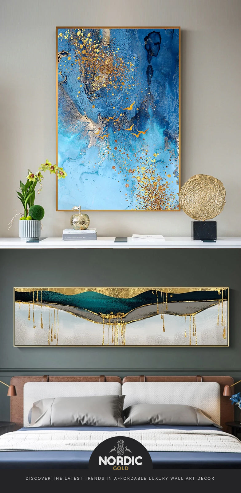 Discover the latest trends in luxury wall art decor for the home and office