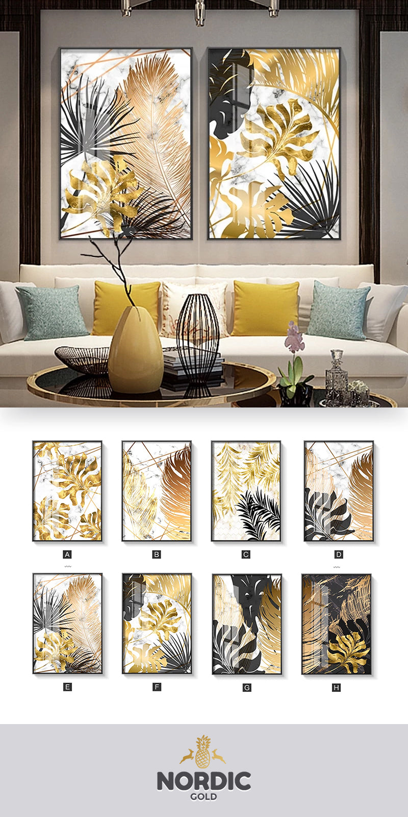 With Its Rich Color Palettes, Exotic Themes And Abstract Biomorphic Designs, The NORDIC GOLD Collection Takes Inspiration From Nature And The Environment..