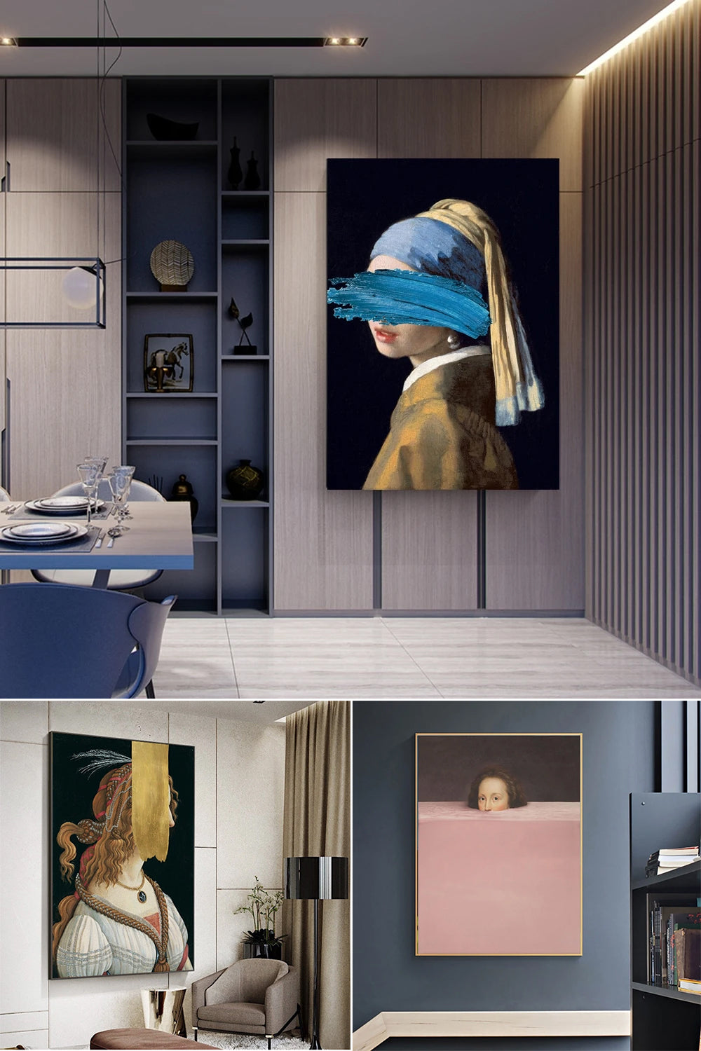 Famous Paintings, Juxtaposed. Welcome To The Vintage Vogue Abstract Gallery Wall Art Collection.