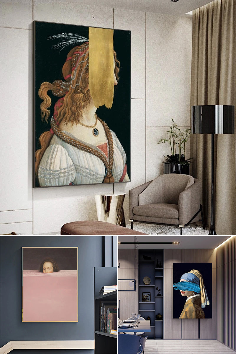 The Vintage Vogue Abstract Gallery Wall Art Collection.