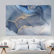 Load image into Gallery viewer, Abstract Blue Gray Marble Wall Art Fine Art Canvas Prints Contemporary Nordic Pictures For Office Or Living Room Bedroom Modern Wall Art Home Decoration