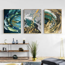 Load image into Gallery viewer, Abstract Aurora Aquatic Marine Wall Art Fine Art Canvas Prints Modern Contemporary Pictures For Office Interior Wall Art Luxury Living Room Home Decor