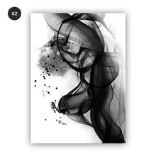 Load image into Gallery viewer, Abstract Black White Ink Splash Posters Fine Art Canvas Prints POP Art Paintings Minimalist Salon Art For Office Boutiques and Home Decor