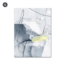 Load image into Gallery viewer, Abstract Blue Black Slate Grey Marble Wall Art Posters Fine Art Canvas Prints Modern Nordic Pictures For Kitchen Bathroom Modern Home Decor