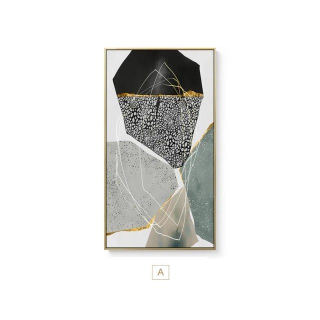 Abstract Pebbles Contemporary Wall Art Geomorphic Agate Marble Design Fine Art Canvas Prints Modern Pictures For Stylish Home Office Decor