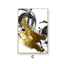 Load image into Gallery viewer, Abstract Golden Swirls Luxury Nordic Contemporary Wall Art Fine Art Canvas Prints Modern Pictures For Office Living Room Modern Home Decor