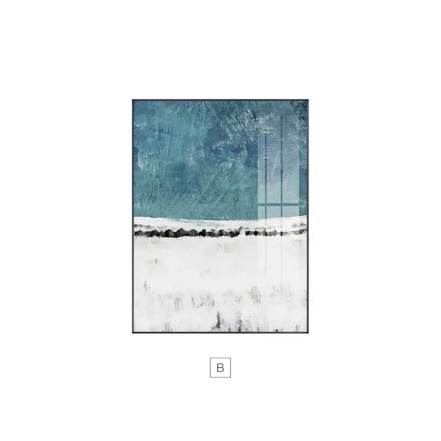 Abstract Shades Of Blue Black Wall Art Fine Art Canvas Prints Modern Boutique Pictures For Living Room Dining Room Contemporary Home Wall Art Decor