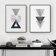 Load image into Gallery viewer, Abstract Vintage Nordic Geometric Wall Art Minimalist Marble Design Fine Art Canvas Prints Posters For Living Room Bedroom Home Decor