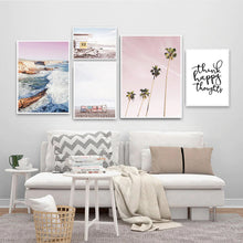 Load image into Gallery viewer, Beach Lover Coastal Seascape Wall Art Nordic Style Fine Art Canvas Prints Lifeguard Life Posters For Bedroom Living Room Beach House Home Decor