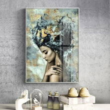 Load image into Gallery viewer, Girl Becomes Marble Abstract Nordic Fashion Figure Art Poster Fine Art Canvas Print Picture For Modern Interior Design Home Decoration