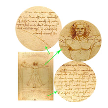 Load image into Gallery viewer, Classic Painting Vitruvian Man, Study of Proportions by Leonardo da Vinci Fine Art Canvas Print Famous Paintings Wall Art Home Office Decor