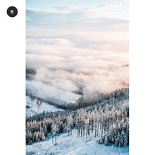 Load image into Gallery viewer, Far North Winter Snow Landscape Wall Art Fine Art Canvas Print Inspirational Mountain Wilderness Scandinavian Scenery Modern Pictures Living Room Decor