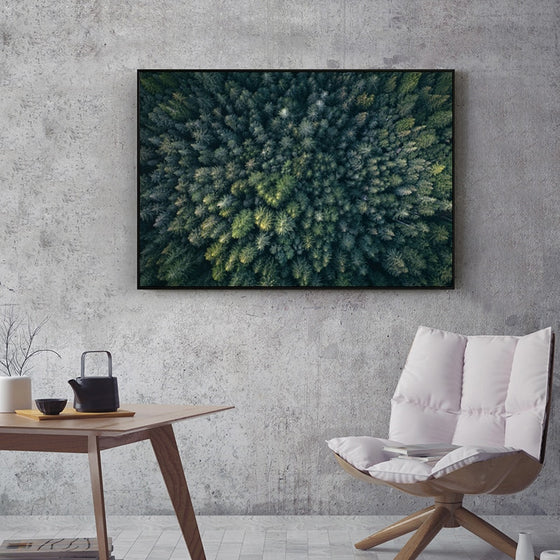 Forest View From Above Green Trees Wilderness Wall Art Fine Art Canvas Prints Modern Abstract Beauty Of Nature Pictures For Home Office Wall Art Decor