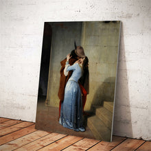 Load image into Gallery viewer, Francesco Hayez, The Kiss (Il Bacio) Poster Fine Art Canvas Print Wall Art Poster Famous Italian Romanticism Paintings For Modern Home Decor