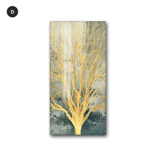 Load image into Gallery viewer, Golden Tree By Night Nordic Style Modern Wall Art Fine Art Canvas Prints Skyscraper Format Posters Modern Pictures For Luxury Loft Home Office Interior Decor