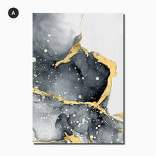 Load image into Gallery viewer, Liquid Golden Black Marble Modern Interiors Wall Art Fine Art Canvas Prints Luxury Pictures For Living Room Bedroom Contemporary Home Office Decoration