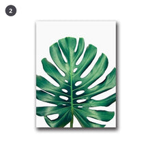 Load image into Gallery viewer, Lush Green Leaves Posters Tropical Plants Flora Fine Art Canvas Prints Nordic Wall Art For Living Room Dining Room Modern Home Decoration