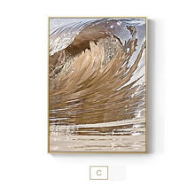 Load image into Gallery viewer, Luxury Gold Wing Wall Art Golden Feathers Shimmering Wave Fine Art Canvas Prints Nordic Pictures Living Room Bedroom Glam Home Decor
