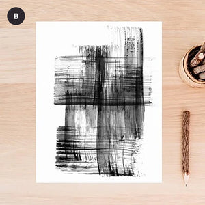 Minimalist Black & White Urban Abstract Wall Art Simple Nordic Style Modern Pictures Fine Art Canvas Prints For Living Room Bedroom Home Office Decor