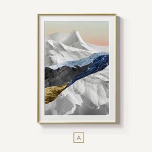 Modern Mountain Wilderness Wall Art Abstract Landscapes Fine Art Canvas Prints Luxury Nordic Style Pictures For Modern Interior Decor