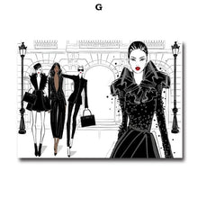 Load image into Gallery viewer, New York Vogue Fashion Handbag & Heels Glamour Wall Art Fine Art Canvas Prints Salon Art Nordic Style Boutique Pictures For Designer Home Decor
