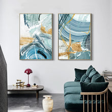 Load image into Gallery viewer, Nordic Abstract Sky Blue Summer Sea Wall Art Fine Art Canvas Prints Contemporary Pictures For Living Room Bedroom Modern Home Office Interior Decor