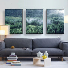 Load image into Gallery viewer, Nordic Woodland Mountain Glade Wilderness Wall Art Pictures Of Calm Fine Art Canvas Prints Modern Landscape Pictures For Home Office Wall Art Decor
