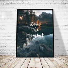 Load image into Gallery viewer, Stunning Wilderness Landscape With Inspirational Quotes Natural Scenery Poster Wall Art Picture Fine Art Canvas Prints