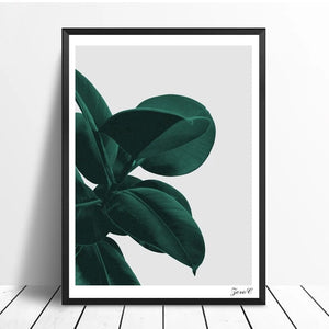 Minimalist Green Leaves Wall Art Nordic Style Greenery Simple Houseplant Picture Fine Art Canvas Prints Pictures For Modern Home Interior Decor