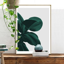 Load image into Gallery viewer, Minimalist Green Leaves Wall Art Nordic Style Greenery Simple Houseplant Picture Fine Art Canvas Prints Pictures For Modern Home Interior Decor