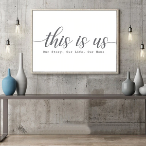 This Is Us Our Story Family Living Room Wall Art Black And White Nordic Style Minimalist Quotation Poster Fine Art Canvas Prints For Modern Home Decor