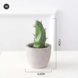 Realistic Artificial Cactus Plants And Succulents Potted Desert Plant Scandinavian Style Table Decoration Modern Home Decor Windowsill Plants