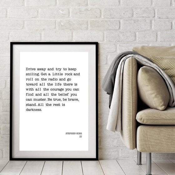 Stephen King Quote From IT Famous Literature Quotes Wall Art Fine Art Canvas Print Minimalist Typographic Black White Poster For Living Room Home Office Decor