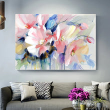 Load image into Gallery viewer, Stunning Big Floral Wall Art Modern Colorful Abstract Fine Art Canvas Poster Prints Paintings For Living Room Bedroom, Office or Hotel Interior Decor