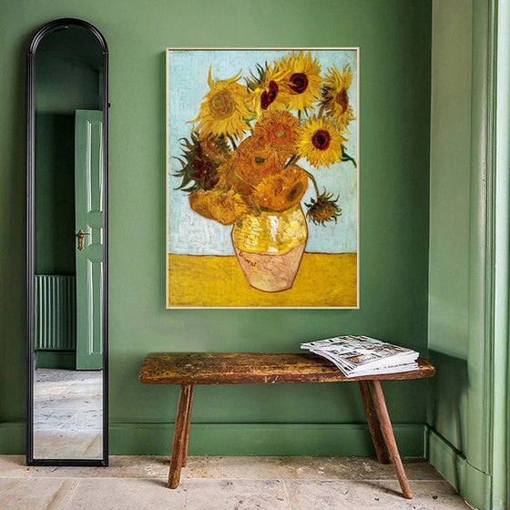 Sunflowers Posters Oil Paintings Fine Art Canvas Prints Wall Art Posters by Famous Dutch Post-Impressionist Van Gogh Paintings For Modern Home Decor