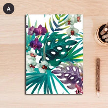 Load image into Gallery viewer, Tropical Flora & Fauna Colorful Nordic Style Botanic Watercolor Wall Art Fine Art Canvas Giclee Prints For Modern Living Room Dining Room Kitchen Home Decor