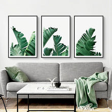 Load image into Gallery viewer, Tropical Palm Leaves Catching The Breeze Botanical Wall Art Nordic Style Fine Art Canvas Prints For Living Room Dining Room Modern Home Decor