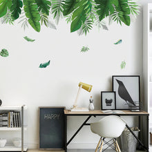Load image into Gallery viewer, Tropical Rainforest Canopy Plant Leaves Wall Mural Removable PVC Wall Decal For Living Room Dining Room Kids Playroom Nursery Wall Decor